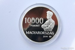 K. Spányi Béla ezüst emlékpénzérme