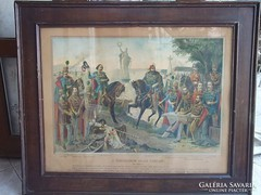 A 13 Aradi Vértanú 1900-as évek 87x71 cm