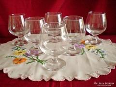 Konyakos talpas üveg pohár 6 db