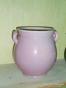 Zsolnay (?) rózsaszín bödön