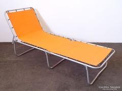 0M272 Retro narancssárga alumínium kemping ágy