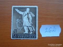 HORVÁTORSZÁG 4+7 KUNA 1942 Dr. Ante Starcev POSTATISZTA 262.