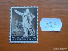 HORVÁTORSZÁG 4+7 KUNA 1942 Dr. Ante Starcev POSTATISZTA 263.