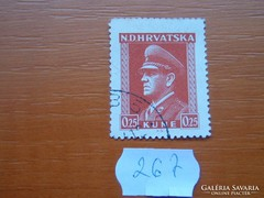 HORVÁTORSZÁG 0,25 KUNE 1944  Dr. Ante Pavelić 267.