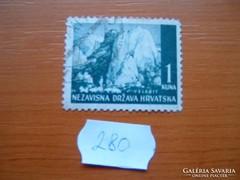 HORVÁTORSZÁG 1 KUNA 1941 TÁJAK VELEBIT 280.
