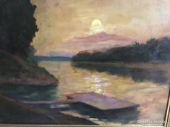 Chiovini Ferenc: Alkonyat a Tisza-Zagyva torkolatnál
