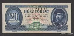 20 forint 1947. 000000-ás MINTA. UNC ! NAGYON RITKA!!!