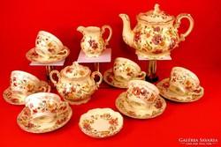 Zsolnay teáskészlet pillangós 6 személyes