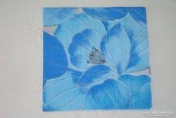 Eladó szalvéta kék virágmintás