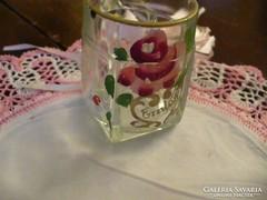 Antik festett EMLÉK kis csésze