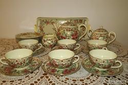 Zsolnay perzsa-mintás teás- és süteményes készlet
