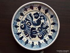 Dísztányér, falra akasztható tányér, jobbra néző galamb