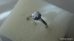 Arany (fehér) 14 karátos brilles soliter gyűrű