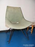2 db ritka retro fém X lábú fotel 1960-as évekből