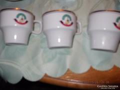 Retro kávés csésze 3 darab