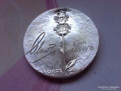 1978 Norvég ezüst 50 korona 27 gramm 0,925