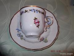 Csodaszép hollóházi kávés csésze tányérral   KAVAZZA