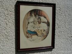 Prihoda István (1891-1956) Kis balerinák - színes rézkarc!