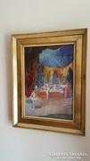 Pogány Géza : Színpadon című gyönyörű festménye