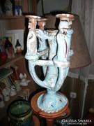 41 cm magas iparművész kerámia gyertyatartó
