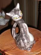 Kertész  Klára kerámia cica