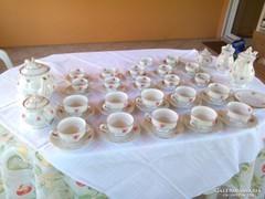 Rózsás teás és kávés készlet