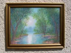 Kortárs olajfestmény! (Horváth József) 30×40cm
