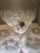 Kristály fehérboros, 6 db-os pohár készlet