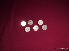 6db Osztrák, ezüst érme gomb 1904