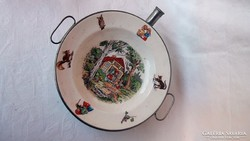 Antik gyerek tányér