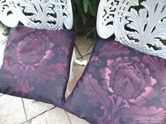Hímzett lila selyempárna / 2 db