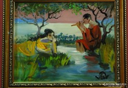 Volkov Mihail-A parton 20 x 25 cm olaj, karton
