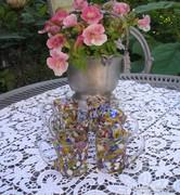 Muránói foltos mintás  pohár