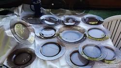 15 db barna hőálló üveg tányérok !