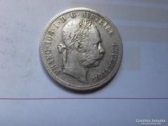 1885 ezüst 1 Florin,ritkább szép darab