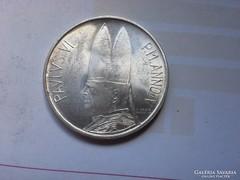 1966 Vatikáni ezüst 500 líra 11 gramm 0,835 Ritka gyönyörű d