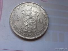 1931 holland ezüst 2,5 gulden 25 gramm 0,720