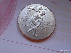 Panama ezüst 5 balboa 35,7 gramm 0,925 1970