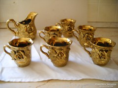 Antik aranyozott teás készlet eladó!