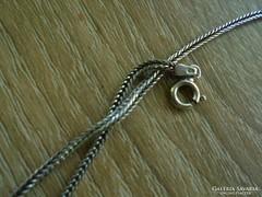 Fonott szemes ezüst nyaklánc