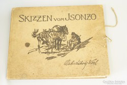 Első világháborús könyv Skizzen vom Isonzo