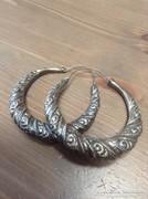 Antik kézműves ezüst fülbevaló