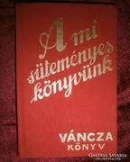 Váncza süteményes könyv 1936