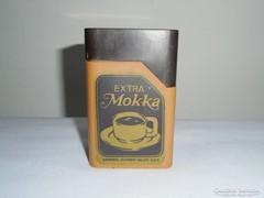 Extra Mokka - retro műanyag kávés doboz