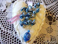 Közel-keleti kék üveg nyaklánc