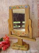 Régi budoár tükör kalocsai mintával