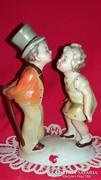 Antik Grafenthal Karl Scheidig puszilkodó gyermekek porcelán