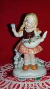 Régi Bertram jellegű Grafenthal porcelán figura kisleány
