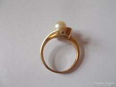 Arany női gyűrű gyönggyel 8000Ft/gram