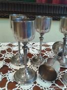 Antik ezüst poharak 6 darab AJÁNLATOT FOGADOK